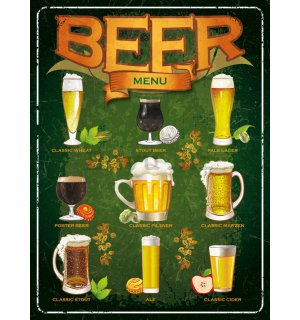 Metalna tabla - Beer menu