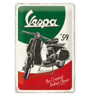 Metalna tabla: Vespa The Italian Classic - 30x20 cm