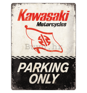 Metalna tabla: Kawasaki Parking Only - 40x30 cm