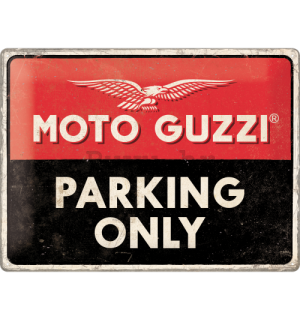 Metalna tabla: Moto Guzzi Parking Only - 40x30 cm