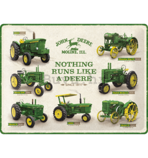 Metalna tabla: John Deere (Model Chart) - 40x30 cm