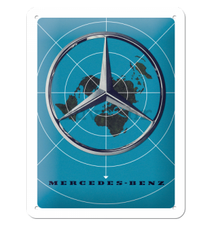 Metalna tabla: Mercedes-Benz (Map) - 15x20 cm