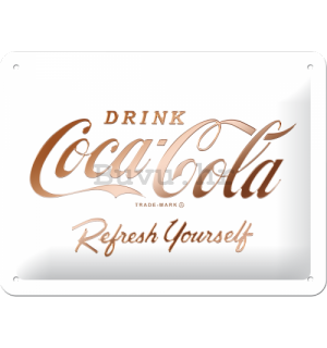 Metalna tabla: Coca-Cola Refresh Yourself  - 15x20 cm