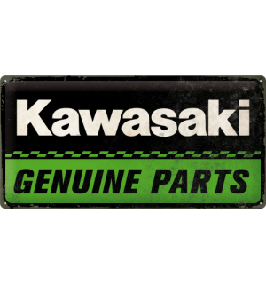 Metalna tabla: Kawasaki Genuine Parts - 25x50 cm