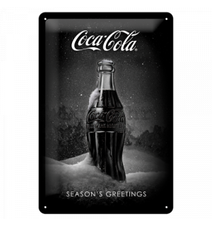 Metalna tabla: Coca-Cola Black Special Edition (Season's Greetings) - 30x20 cm