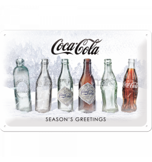 Metalna tabla: Coca-Cola White Special Edition (Season's Greetings) - 30x20 cm