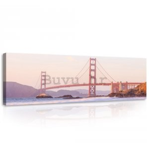 Slika na platnu: Golden Gate Bridge (4) - 145x45 cm