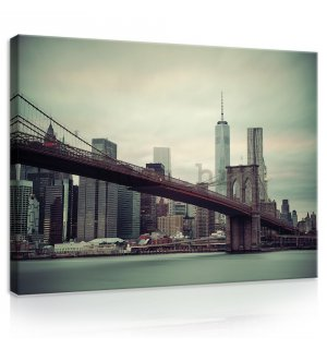 Slika na platnu: Brooklyn Bridge (2) - 75x100 cm