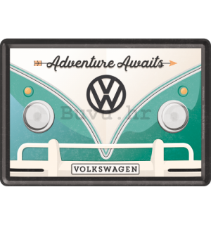 Metalna razglednica - VW Bulli  (Adventure Awaits)