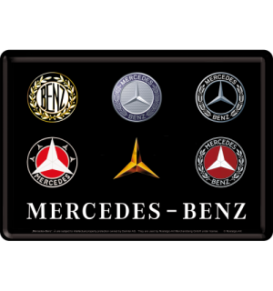 Metalna razglednica - Mercedes-Benz (Logo Evolution)