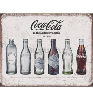Metalna tabla - Coca-Cola (retro boce)