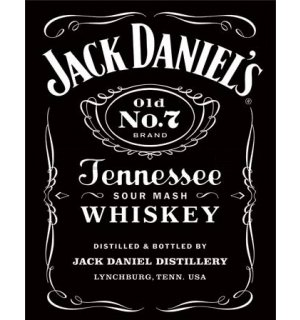 Metalna tabla - Jack Daniel's (crni logotip)