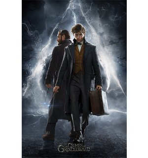 Poster - Fantastic Beasts The Crimes of Grindelwald (Newt & Dumbledore)