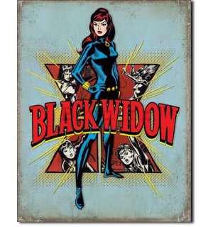 Metalna tabla - Black Widow (Retro)