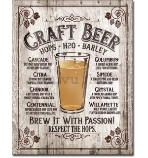Metalna tabla - Craft Beer