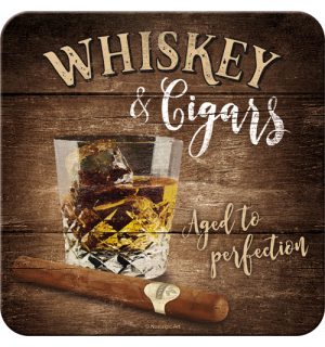 Set podmetača 2 - Whiskey & Cigars
