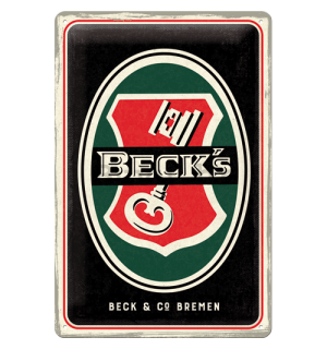 Metalna tabla: Beck's (Key Logo) - 30x20 cm