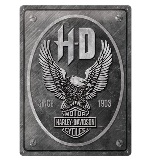 Metalna tabla: Harley-Davidson (Metal Eagle) - 40x30 cm