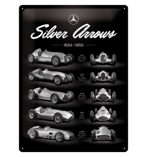 Metalna tabla: Mercedes-Benz (Silver Arrows Chart) - 40x30 cm