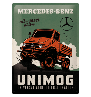 Metalna tabla: Mercedes-Benz Unimog - 40x30 cm