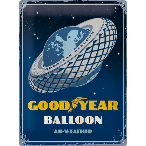 Metalna tabla: Goodyear (Balloon Tire) - 40x30 cm