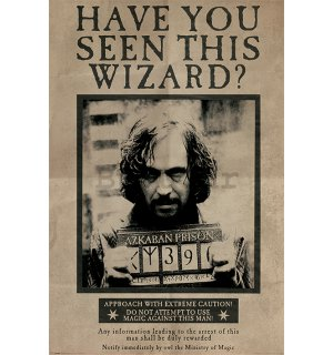 Poster - Harry Potter (Wanted Sirius Black)