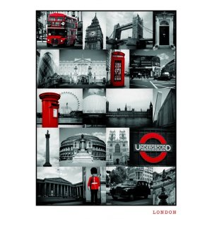 Poster - London (RED COLLAGE)