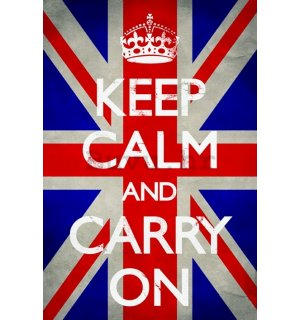 Poster - Keep Calm (Union Jack)