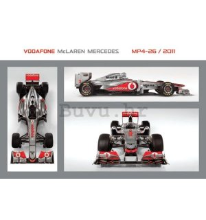 Poster - Vodafone McLaren Mercedes MP4-26 (1)
