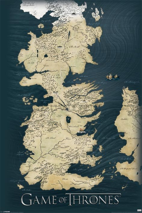 Poster - Game Of Thrones (karta)