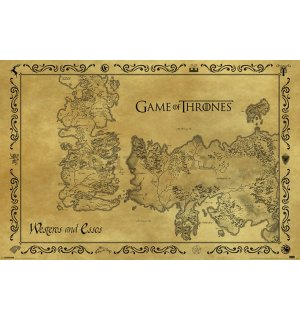 Poster - Game of Thrones (drevna karta)