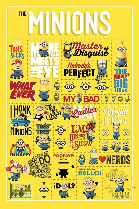 Poster - Despicable Me, Infografika