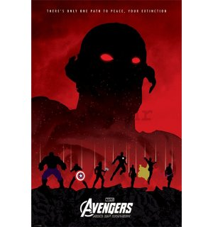 Poster - Avengers Age of Ultron (crvena)