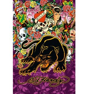 Poster - Ed Hardy Black Panther (1)