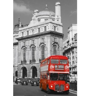 Poster - London red Bus (2)