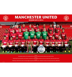 Poster - Manchester United (Team foto 13/14)