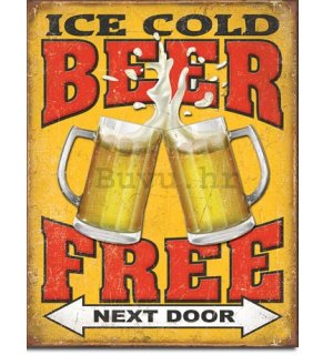 Metalna tabla - Ice Cold Free Beer