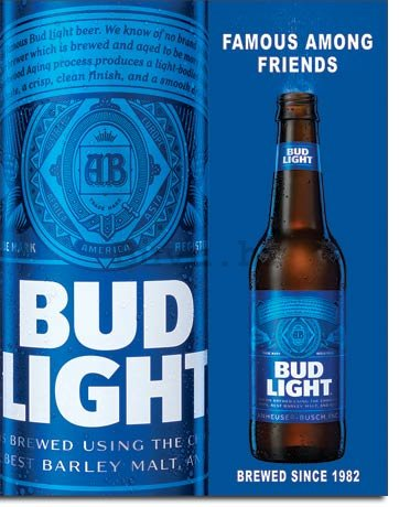 Metalna tabla - Bud Light (1)