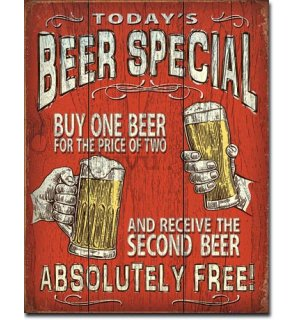 Metalna tabla - Today's Beer Special
