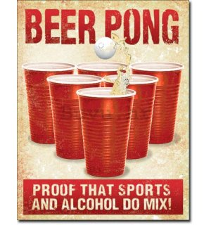 Metalna tabla - Beer Pong