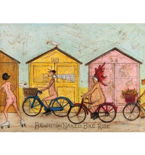 Slika na platnu - Sam Toft, Brighton Naked Bike Ride