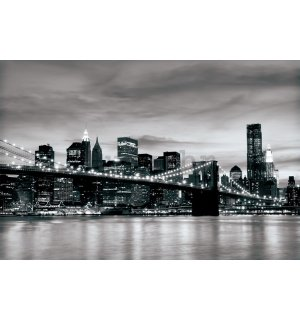 Foto tapeta: Brooklyn Bridge (crno-bijeli) - 184x254 cm