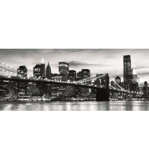 Foto tapeta: Brooklyn Bridge (crno-bijeli) - 104x250 cm