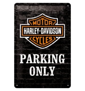Metalna tabla: Harley-Davidson Parking Only - 30x20 cm