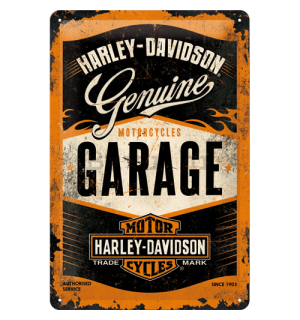 Metalna tabla: Harley-Davidson (Garage) - 30x20 cm