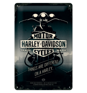 Metalna tabla - Harley-Davidson (Things Are Different on a Bike)
