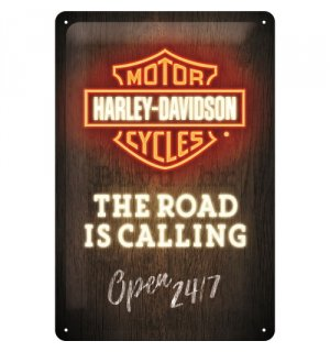 Metalna tabla: Harley-Davidson (The Road is Calling) - 30x20 cm