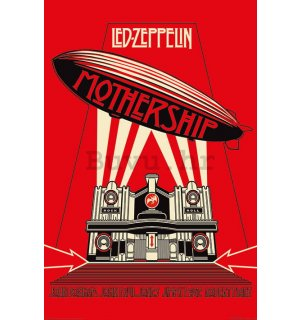 Poster - Led Zeppelin (Mothership Red)