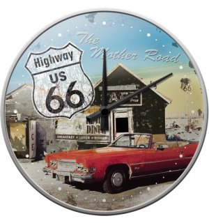Retro sat - Route 66 Red Car
