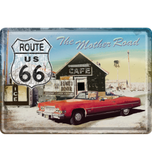 Metalna razglednica - The Mother Road Route 66